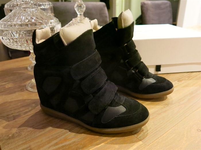 Black Isabel marant wedge heels