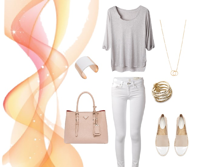 Polyvore beige