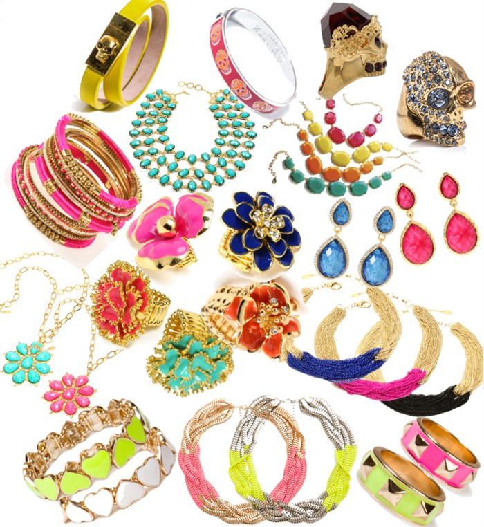 Heleeens collage, jewlery color bomb