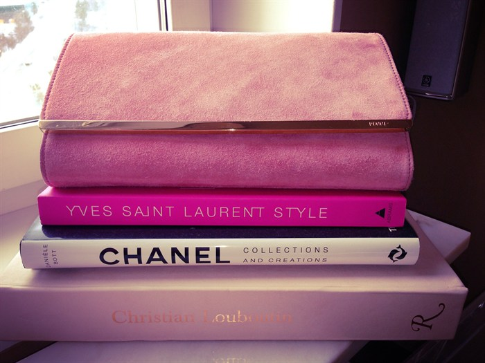 Ysl, chanel, fashionbooks fashion books classic clutch Pucci