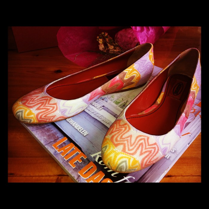 missoni flats colorful love