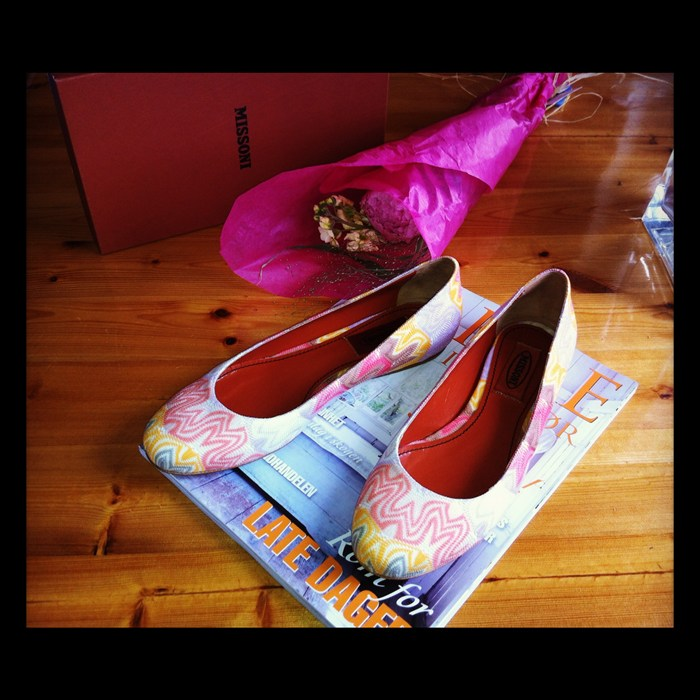 Missoni flats colorful