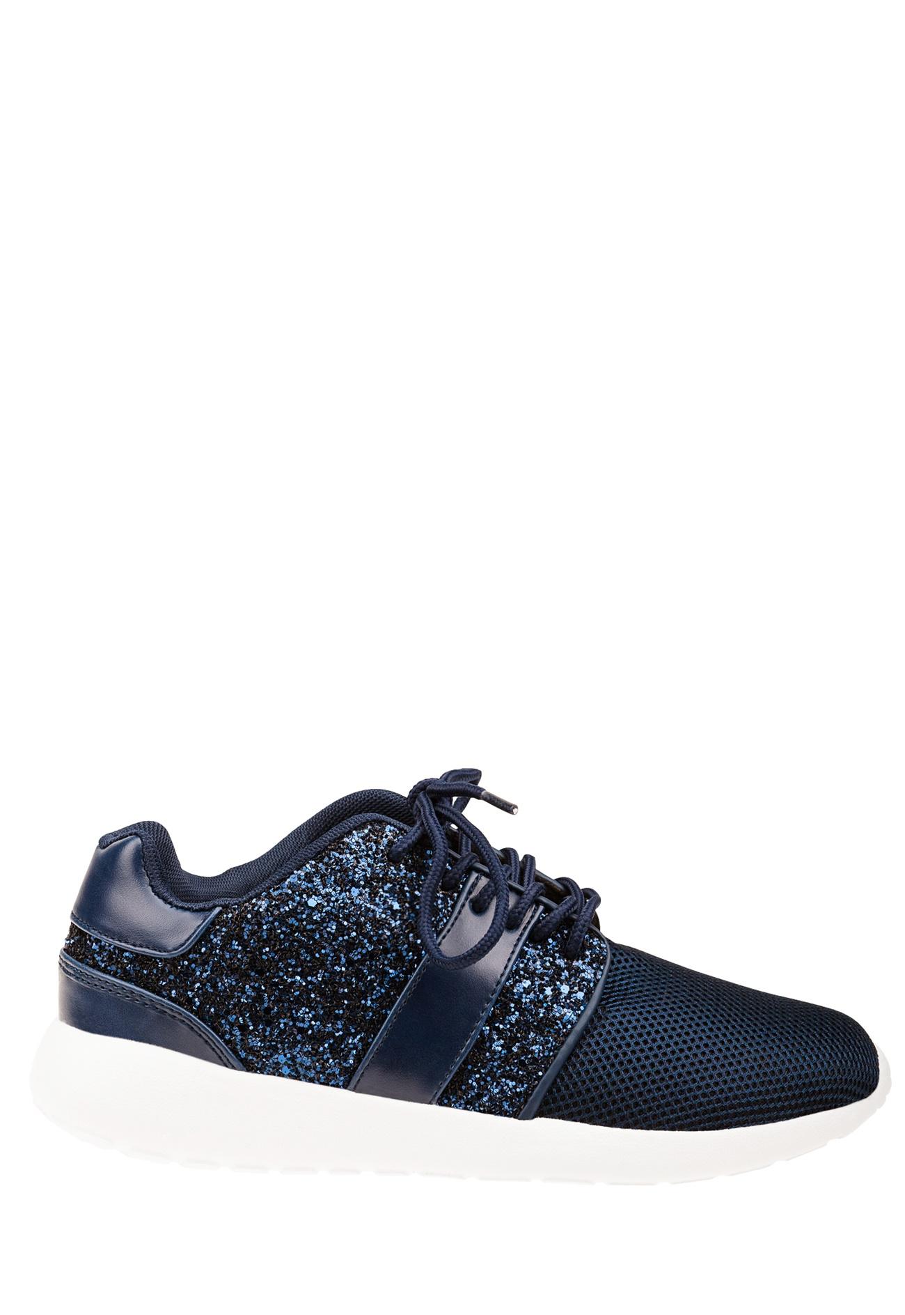 blå glittriga skor