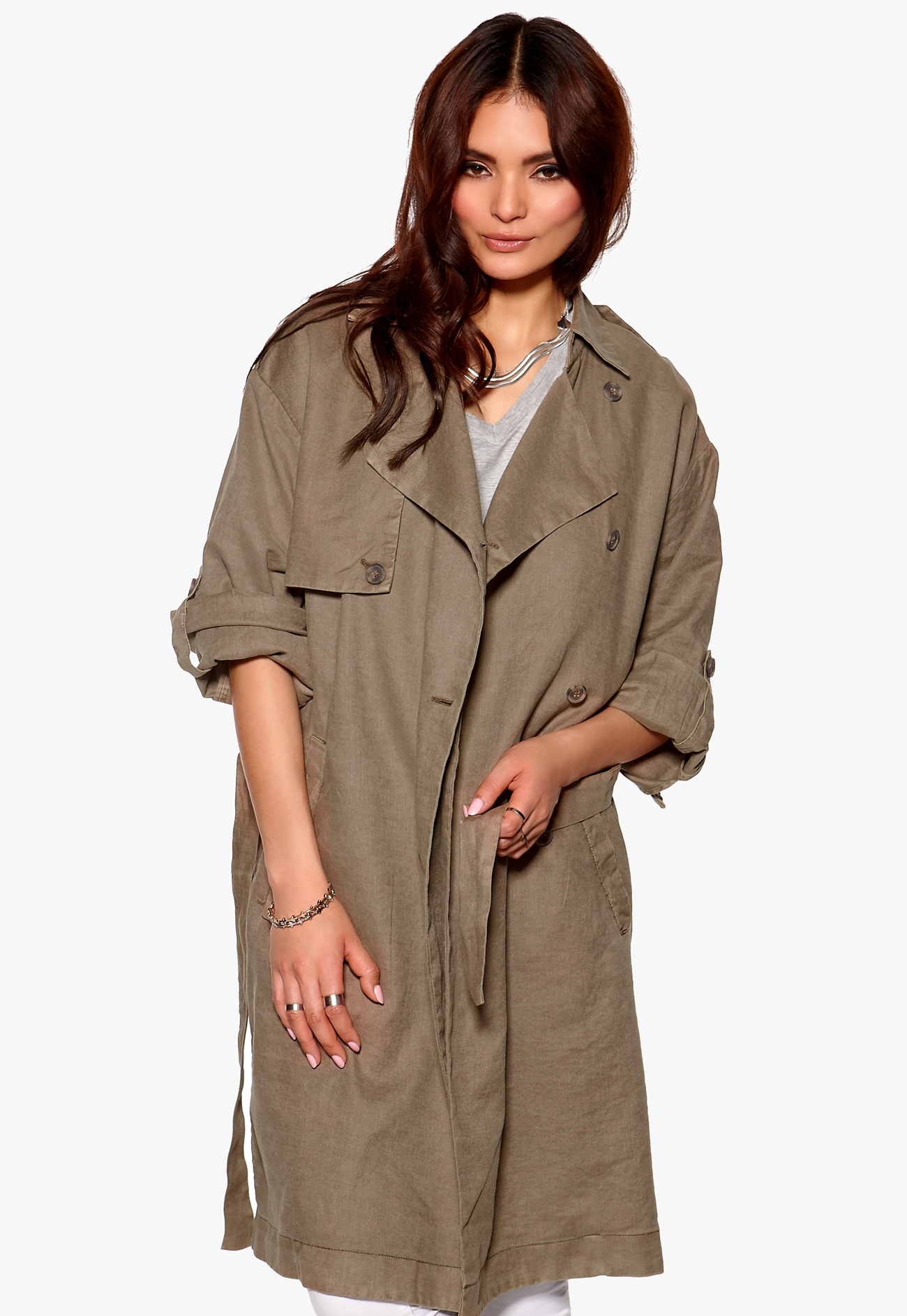 selected femme tenne trench coat teak bubbleroom