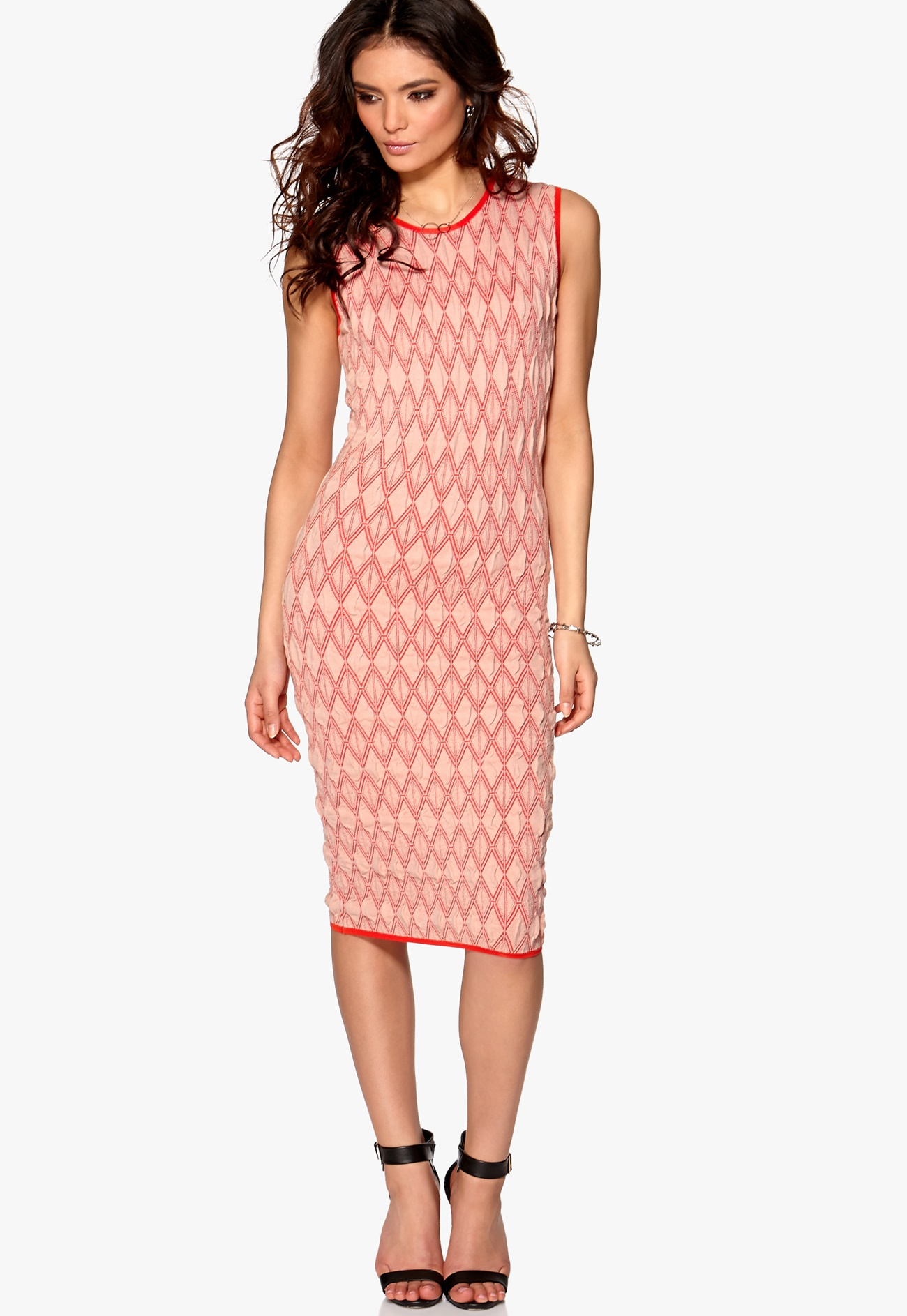 DAGMAR Indra Knitted Dress Rose Pink - Bubbleroom