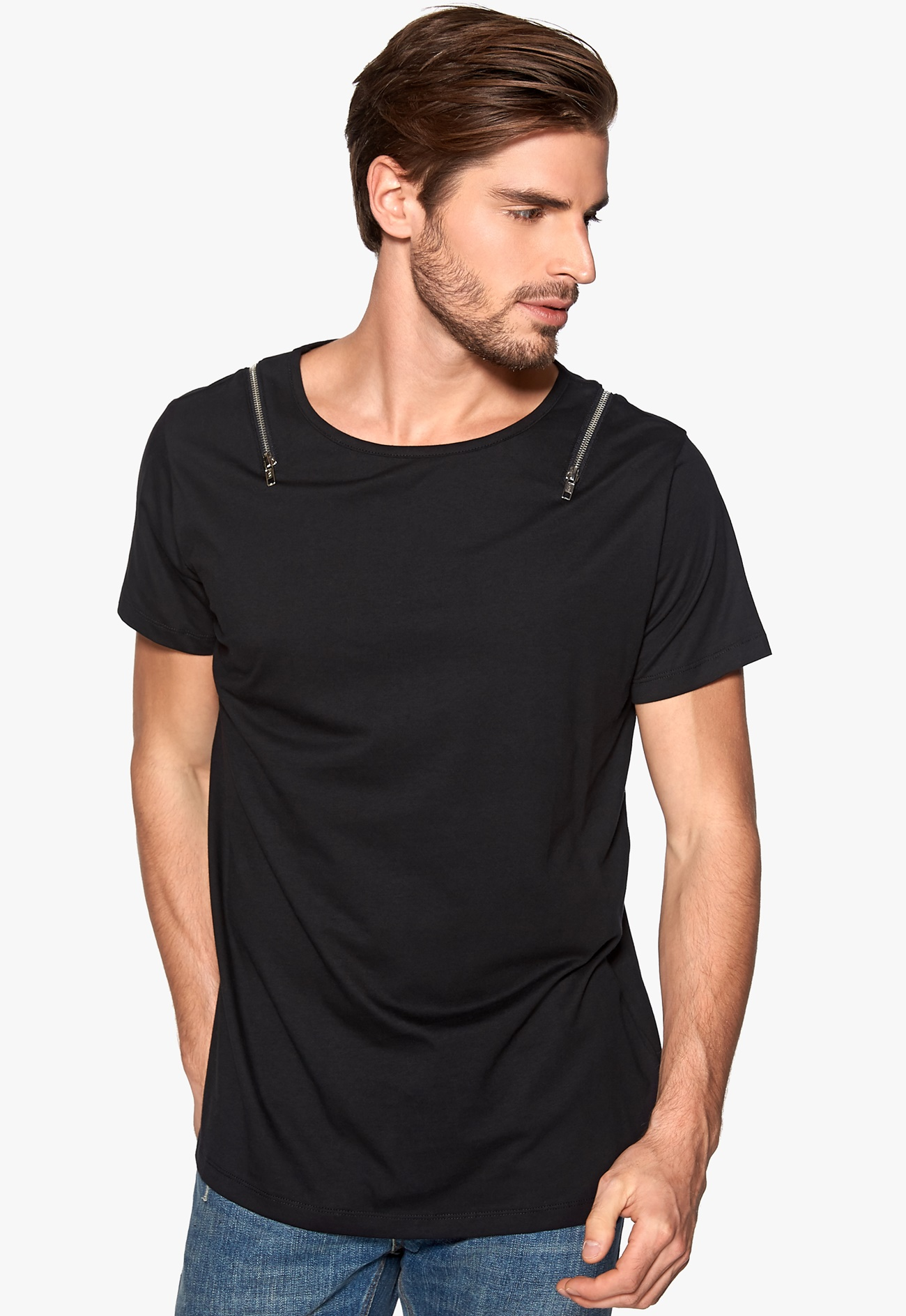 D brand love t shirt black bubbleroom for Love notes brand shirt