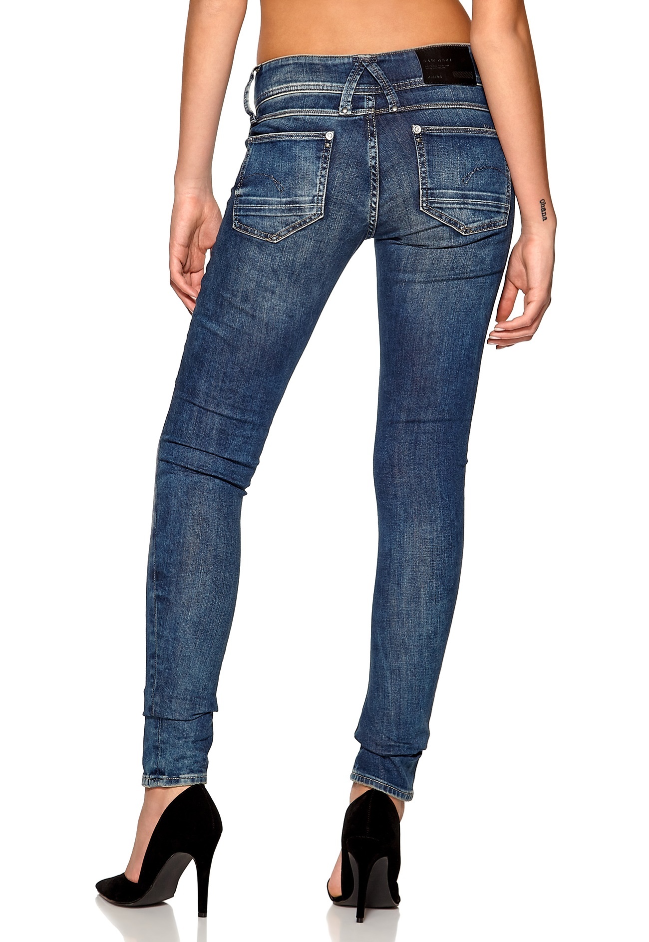 g star lynn skinny jeans 071 medium aged bubbleroom. Black Bedroom Furniture Sets. Home Design Ideas