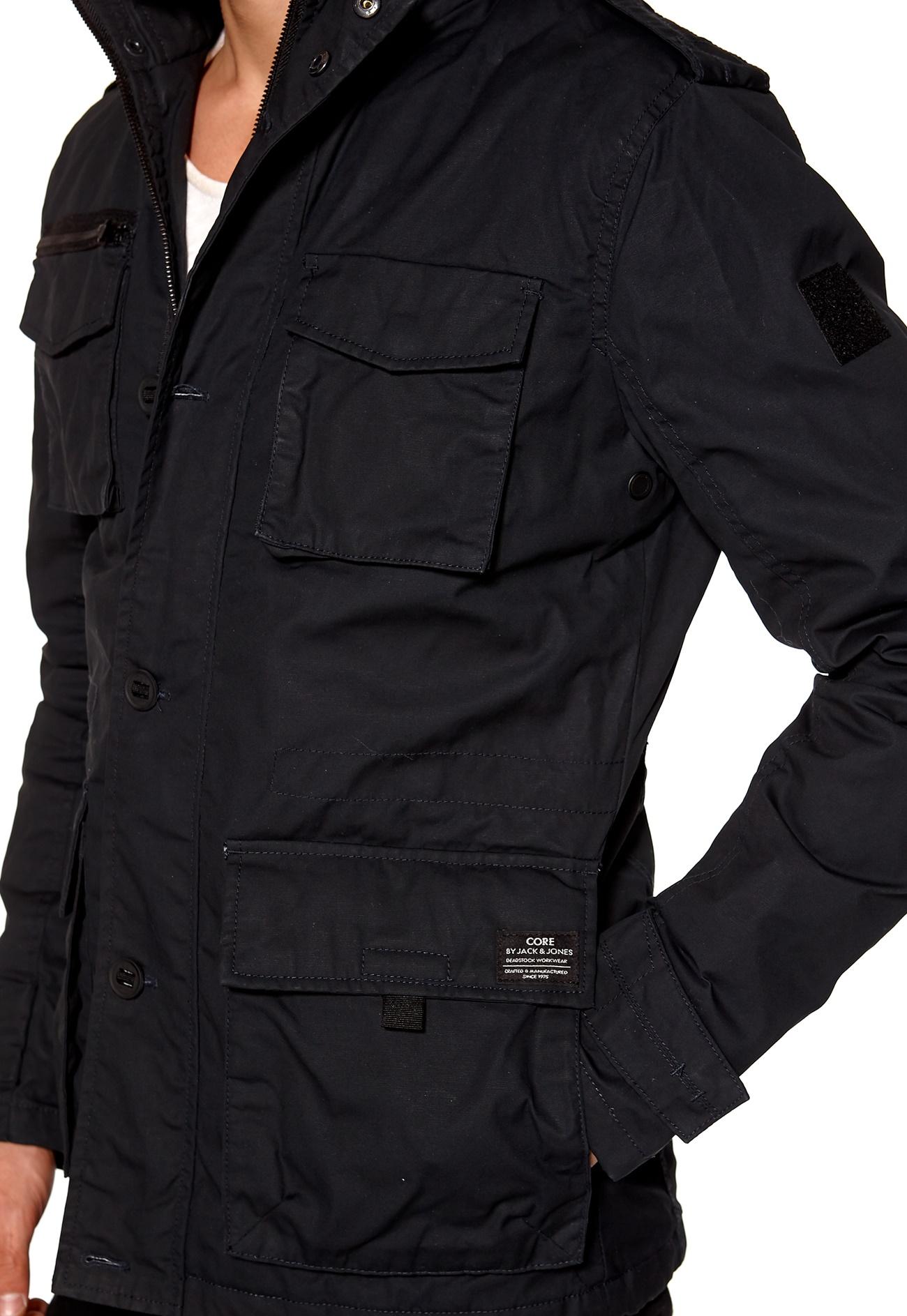 jack jones oil short parka jacket jackets coats jackets. Black Bedroom Furniture Sets. Home Design Ideas