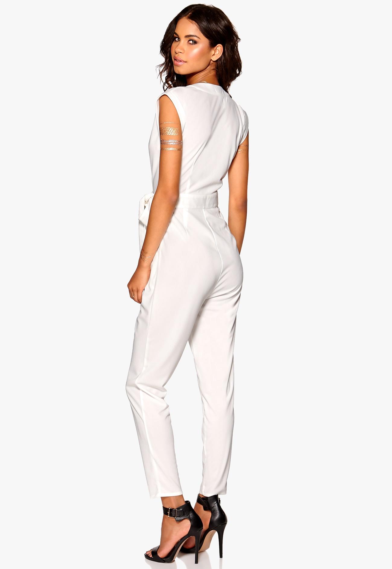 Make Way Elle Jumpsuit White