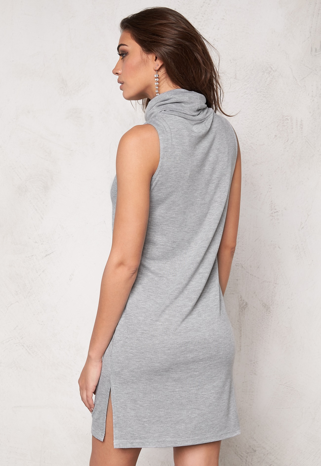 soaked in luxury nixie dress light grey melange bubbleroom. Black Bedroom Furniture Sets. Home Design Ideas