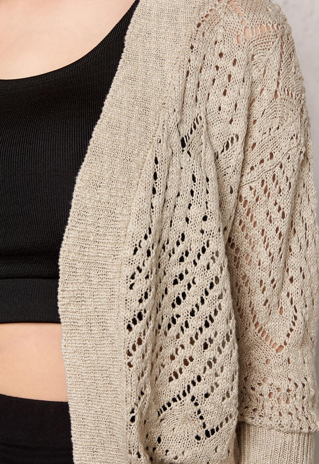 Vero Moda Knitting Yarns : Vero moda ally knit cardigan oatmeal bubbleroom