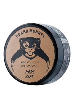 Beard Monkey Beard Monkey Hairvax Clay Pomade  Bubbleroom.se