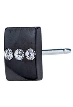 Blomdahl Blomdahl Caring Jewellery Black Titanium Triple Cystal (8mm)  Bubbleroom.se
