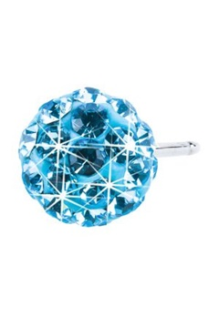 Blomdahl Blomdahl Caring Jewellery Natural Titanium Crystal Ball Aquamarine (6mm)  Bubbleroom.se