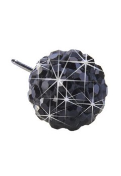 Blomdahl Blomdahl Caring Jewellery Natural Titanium Crystal Ball Black (6mm)  Bubbleroom.se