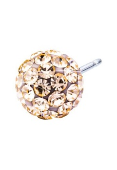 Blomdahl Blomdahl Caring Jewellery Natural Titanium Crystal Ball Golden Rose (8mm)  Bubbleroom.se