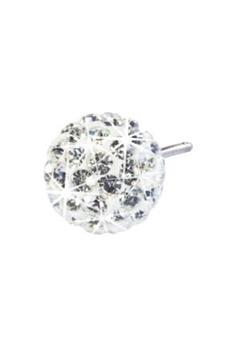 Blomdahl Blomdahl Caring Jewellery Natural Titanium Crystal Ball White (8mm)  Bubbleroom.se