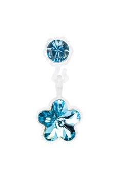Blomdahl Blomdahl Caring Jewellery Pendant Flower Aquamarine (4/6mm)  Bubbleroom.se