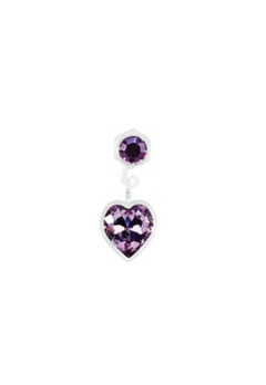 Blomdahl Blomdahl Caring Jewellery Pendant Heart Light Amethyst (4/6mm)  Bubbleroom.se
