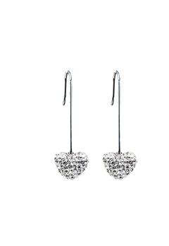 Blomdahl Blomdahl Natural Titanium Straight Pendant Heart 12Mm Diamond  Bubbleroom.se