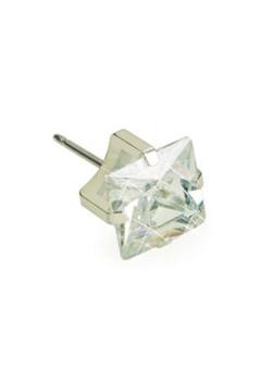 Blomdahl Blomdahl Silver Titanium Tiffany White (4mm)  Bubbleroom.se