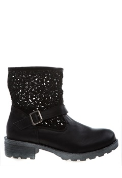 Have2have Boots med virkat skaft, Evelyn Svart Bubbleroom.se