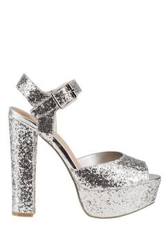 Have2have Glittrande festskor, Julia11 Silver glitter Bubbleroom.se