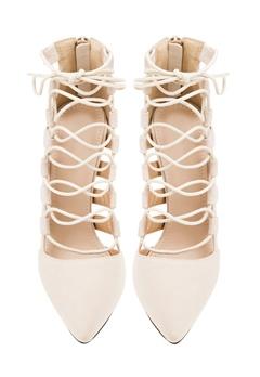 Have2have Högklackade skor med snörning, Remi1 Beige Bubbleroom.se