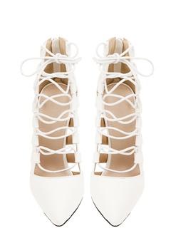 Have2have Högklackade skor med snörning, Remi1 Vit Bubbleroom.se