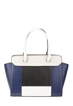 Have2have Handväska, Cassandra Blå, svart, beige, vit Bubbleroom.se