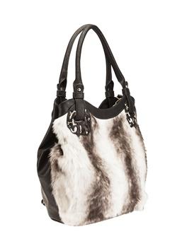 Have2have Handväska i fuskpäls, Win Beige, svart Bubbleroom.se