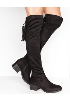 Have2have Overknee støvler, Gry Svart Bubbleroom.no