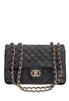 Have2have Quiltad väska, Grynet Svart Bubbleroom.se