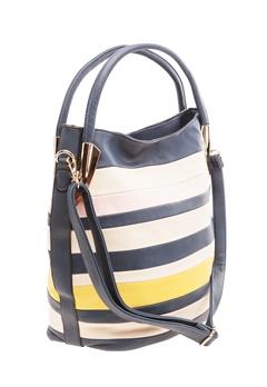 Have2have Randig väska, Thera Blå, beige, gul, rosa Bubbleroom.se