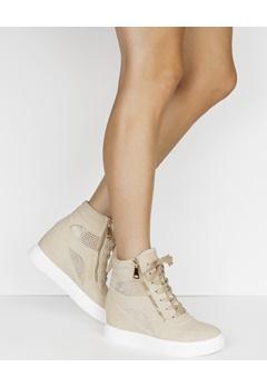 Have2have Sneakers med kilklack, Terese Beige Bubbleroom.se