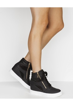 Have2have Sneakers med kilehæl, Terese Svart Bubbleroom.no