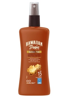 Hawaiian Tropic Hawaiian Tropic Golden Tint Spray Lotion Sf15  Bubbleroom.se
