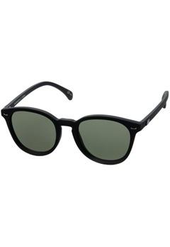 Le Specs Le Specs Bandwagon Black Rubber Khaki Mono Lens  Bubbleroom.se