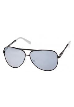 Le Specs Le Specs Black White Smoke Mono Silver Mirror Lens  Bubbleroom.se