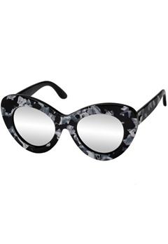 Le Specs Le Specs Go Go Go Black Marble Silver Revo Mirror Lens  Bubbleroom.se