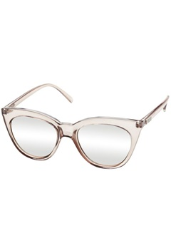 Le Specs Le Specs Halfmoon Magic Stone Full Silver Mirror Lens  Bubbleroom.se
