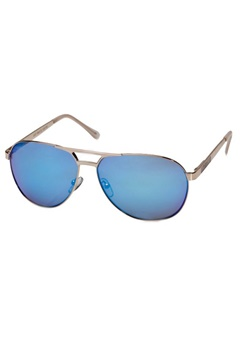 Le Specs Le Specs Just Mauid Gold Sand Blue Revo Mirror Lens  Bubbleroom.se
