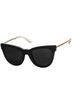 Le Specs Le Specs Le Debutante Black Rubber Smoke Mono Lens  Bubbleroom.se