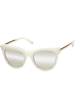 Le Specs Le Specs Le Debutante White Marble Gold Mirror Lens  Bubbleroom.se