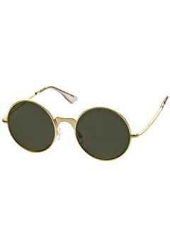 Le Specs Le Specs Poolside Punk Brushed Gold Khaki Mono Lens  Bubbleroom.se