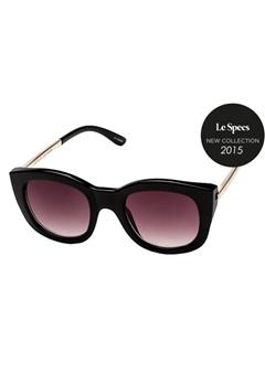 Le Specs Le Specs Runaways Luxe Black Warm Smoke Grad Lens  Bubbleroom.se