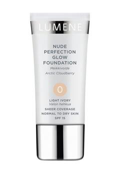 Lumene Lumene Nude Perfection Glow Foundation - Light Ivory 0  Bubbleroom.se