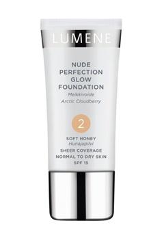 Lumene Lumene Nude Perfection Glow Foundation - Soft Honey 2  Bubbleroom.se