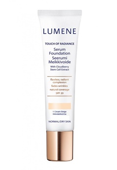 Lumene Lumene Touch Of Radiance Serum Foundation - 1 Cream Beige  Bubbleroom.se
