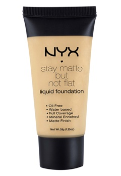 NYX NYX Stay Matte But Not Flat Liquid Foundation - Natural  Bubbleroom.se